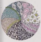 circle zentangle colour