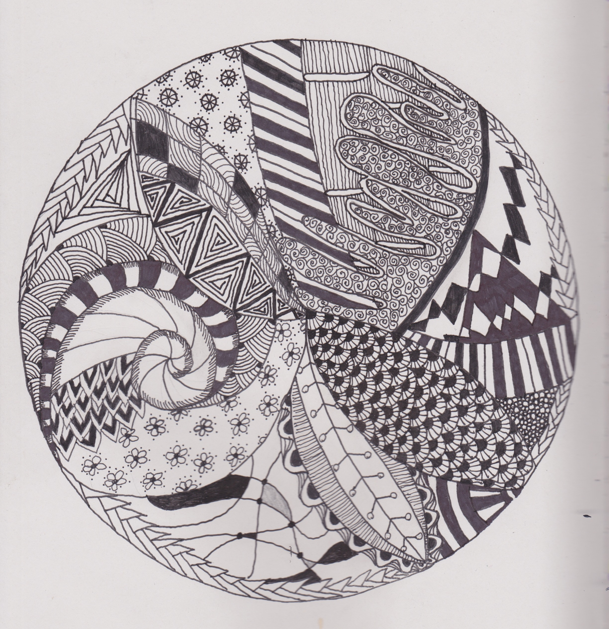 Gallery For gt Simple Zentangle Circles