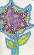 flower doodle purple