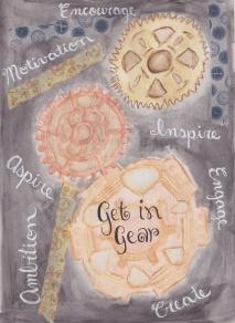 get in gear watercolour