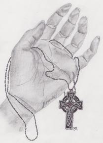 hand and cross