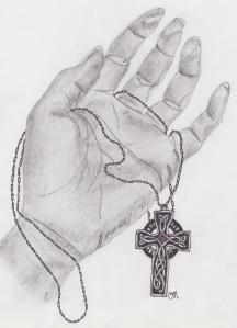 hand and cross