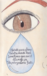 not all scars show drawing