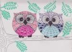 zentangle owls