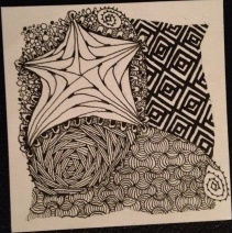 Zentangle Tile with Star