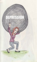 Depression picture quote
