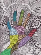 zen hand-colour