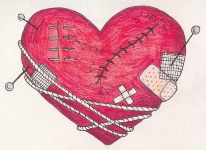 broken heart 2 colour