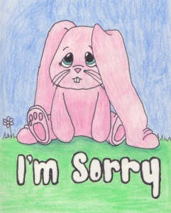 sorry bunny
