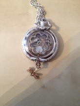 repurposed pocket watch, now a pendant