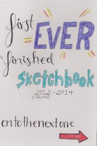 finished sketchbook