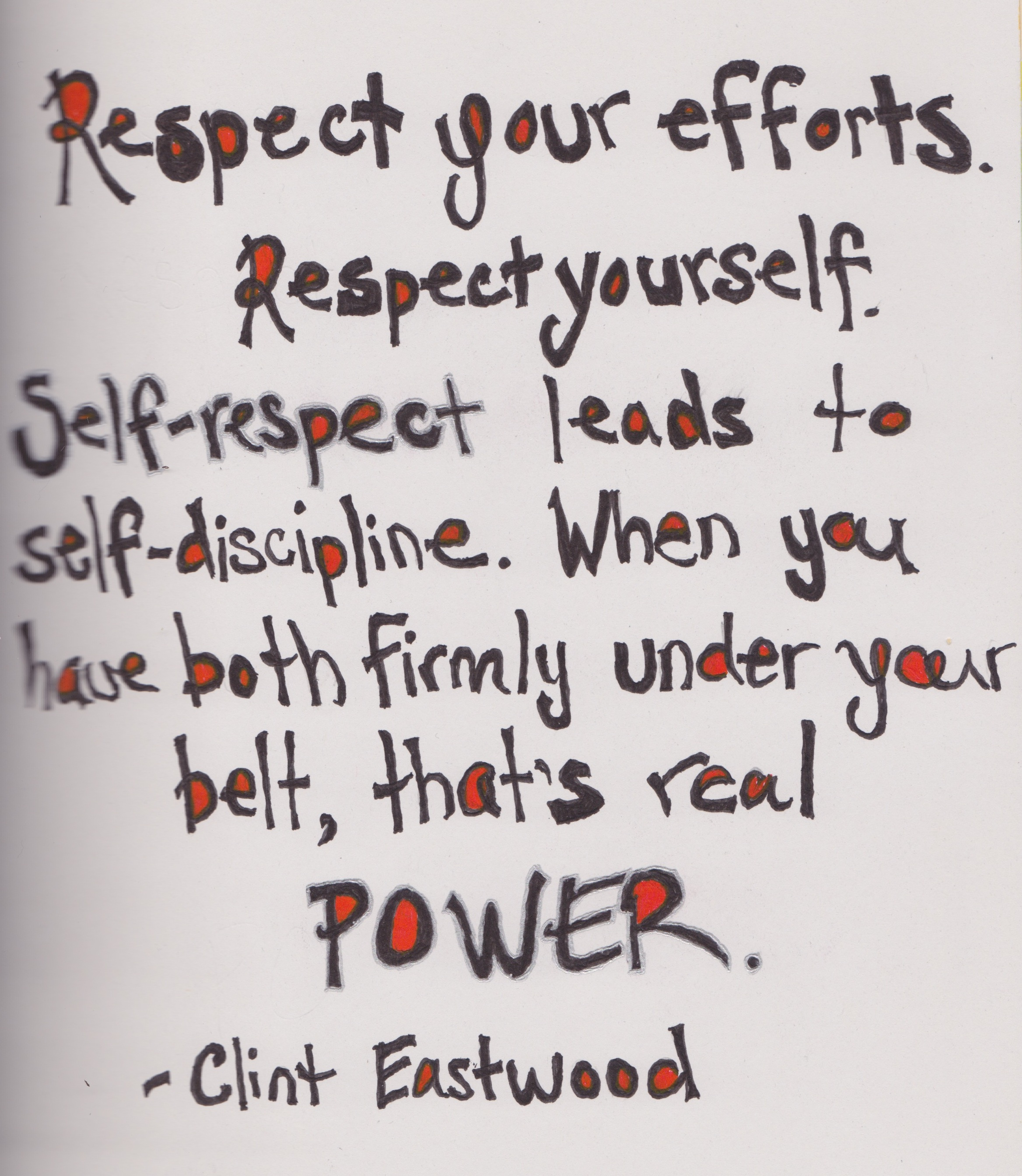 Quotes About Self Esteem Selfrespect Is Power Quote  Somber Scribbler