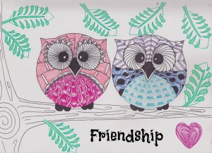 zentangle owls friendship