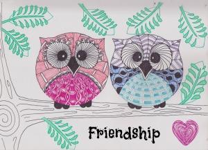 zentangle owls friendship